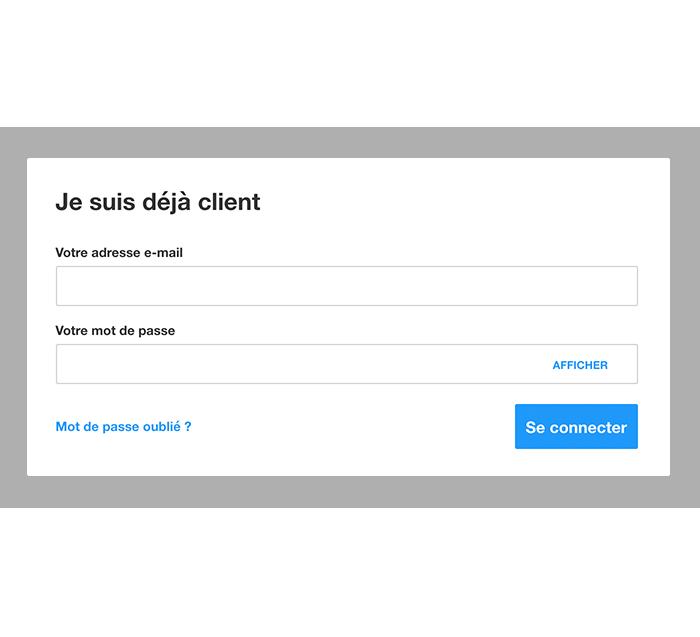 Création d'un compte client Contorion