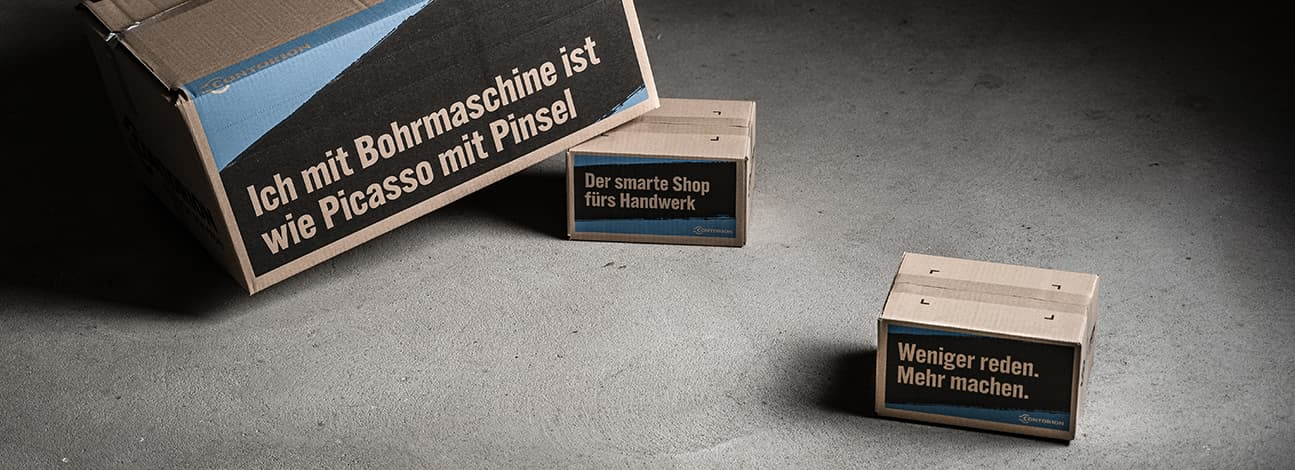 Contorion Versandkartons aus recyceltem Material