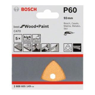 Bosch Schleifblatt C470, 6 Löcher, Klett, 93 mm, 60