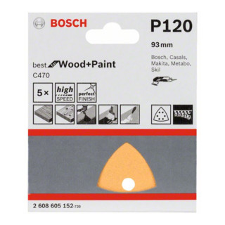 Bosch Schleifblatt C470, 6 Löcher, Klett, 93 mm, 120