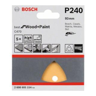 Bosch Schleifblatt C470, 6 Löcher, Klett, 93 mm, 240