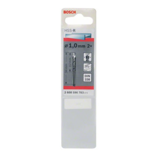 Bosch Metallbohrer HSS-R, DIN 338, 1 x 12 x 34 mm
