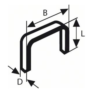 Flachdrahtklammer Typ 54, 12,9 x 1,25 x 8 mm