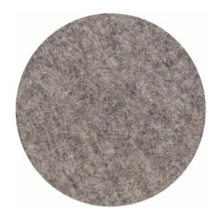 Polierfilz für Exzenterschleifer, weich, Klett, 160 mm