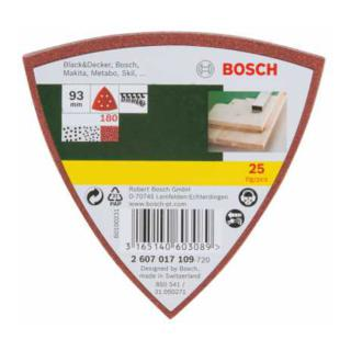 Bosch Delta-Schleifblatt Satz 25tlg.