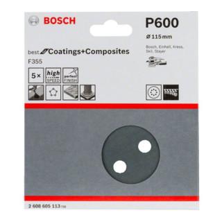 Bosch Klett-Schleifblatt F355 für Exzenterschleifer