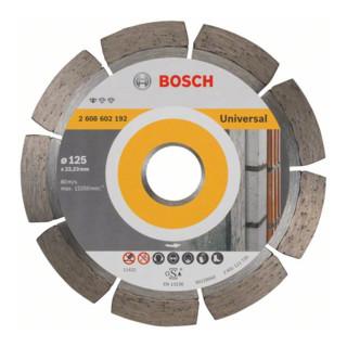 Bosch Diamanttrennscheibe Standard for Universal, 125 x 22,23 x 1,6 x 10 mm