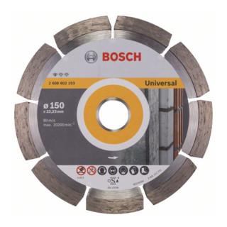 Bosch Diamanttrennscheibe Standard for Universal, 150 x 22,23 x 2 x 10 mm