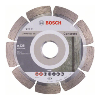 Bosch Diamanttrennscheibe Standard for Concrete, 125 x 22,23 x 1,6 x 10 mm