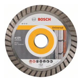 Bosch Diamanttrennscheibe Standard for Universal Turbo, 125x22,23x2x10 mm