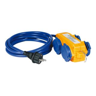 Brennenstuhl Verlängerungskabel IP44 mit Powerblock 5m blau