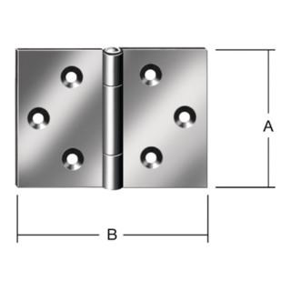 Scharnier DIN 7954 D 100x145mm breit