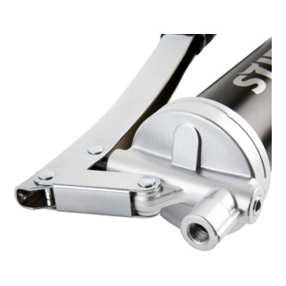 6 x STIER Mehrzweckfett Universal 400g + STIER Handhebel-Fettpresse mit Metallrohr