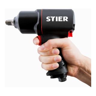 STIER Schlagschrauber 17-BS, 1/2'' Antrieb + STIER Kraft-Steckschlüssel-Satz 3-teilig