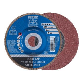PFERD POLIFAN-Fächerscheibe PFF 125 A 60 SG STEELOX