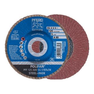 PFERD POLIFAN-Fächerscheibe PFF 125 A 80 SG STEELOX