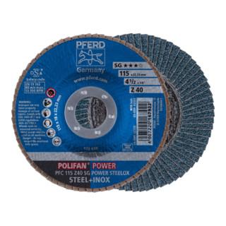 PFERD POLIFAN-Fächerscheibe PFC 115 Z 40 SG POWER STEELOX