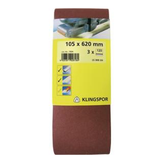 Klingspor Schleifband für Handbandschleifer SB-Verpackt LS 309 XH, LxB 105X620, Korn 120, F5
