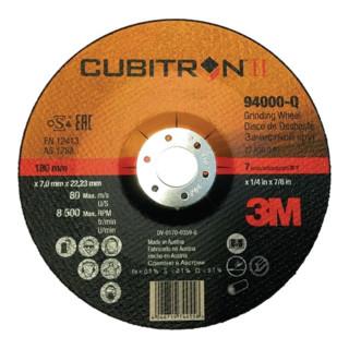 Schruppscheibe Cubitron™ II D.180x7,0mm gekr. 22,23mm K. 36 3M