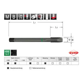 Ruko MGB DIN 376 Form B VAP M12 x 1,75 mm
