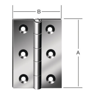 Scharnier DIN 7954 B 50x39mm halbbreit