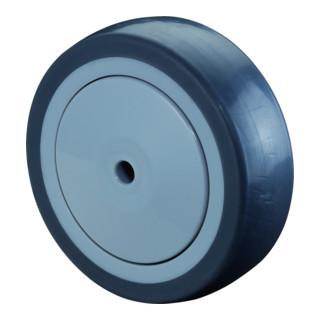 BS Rollen Gummirad blaugrau Ø 125 mm Kugellager