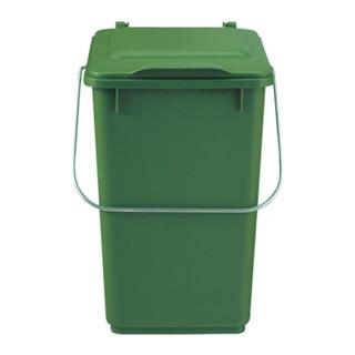 Abfallsammler 10l Kunststoff grün mit Klappdeckel für Bioabfall