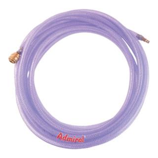 Druckluftset m.Kuppl.AdmiClear TX 9x3 mm,10m PVC-Schl.m.Gew.
