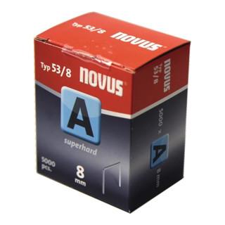 Feindrahtklammer 53 L.8xB.11,3mm superha. Draht-B.0,75mm verz. 5000St./KT NOVUS