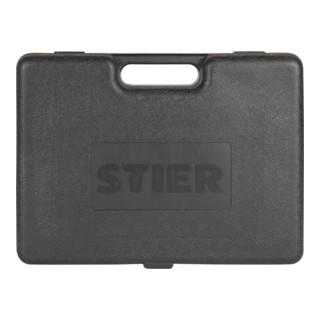 STIER Aktions-Druckluftnagler SKN-15/50 + 8.000 Stauchkopfnägel im Handwerkerkoffer