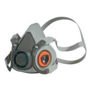 3M Atemschutzhalbmaske 6200, Serie 6000, ohne Filter, Vier-Punkt-Bebänderung mit Kopfbügel