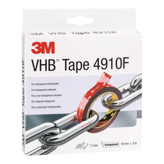 3M Montageband VHB Tape 4910F 19 mm x 3 m Rolle transparent
