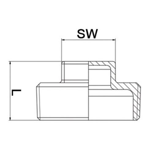 4-kant-Stopfen EN 10226-1 NPS 1/2 Zoll 4-kant 21mm SPRINGER