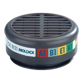 Moldex-Metric Gasfilter 8900 ABEK1 max.0,1Vol.% Breite 30xAGW-Wert EN1438:2004+A1:2008