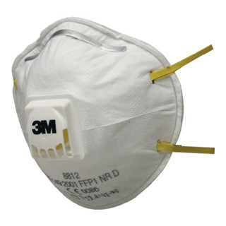 Atemschutzmaske 8812 FFP1NRD m.Ventil b.4xAGW-Wert 3M EN149:2001+A1:2009 3M