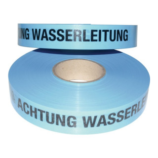 Trassenwarnband L.250 m B.40mm Aufdruck Achtung Wasserleitung