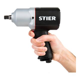 STIER Aktions-Satz mit Schlagschrauber 15-PC + Drehmomentschlüssel 20-200 Nm + Kraft-Steckschlüssel-Satz 1/2''