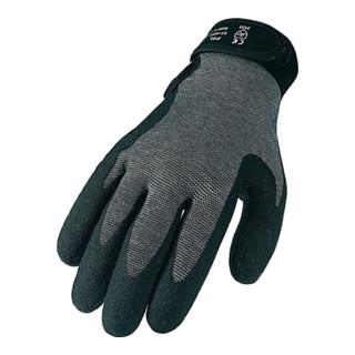 Industrial Quality Supplies Strickhandschuhe PVC-beschichteter Strickbund mit Klettverschluss grau