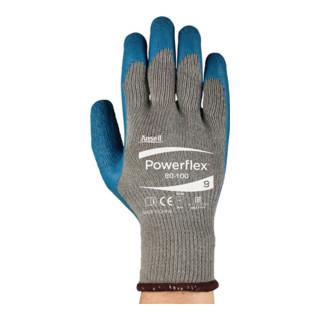 Ansell Handschuhe EN388 Kat. II PowerFlex 80-100 Polyester BW mit Naturgummilatex
