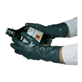 KCL Handschuhe Butoject 898 schwarz Chemikalienschutz mit Rollrand