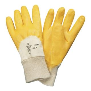 Industrial Quality Supplies Handschuhe Lippe mit Strickbund mit Nitril-Beschichtung gelb