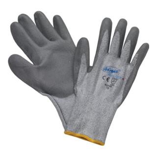 Schnittschutzhandschuhe grau mit PU-Beschichtung EN388