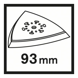Bosch Schleifplatte AVI 93, 93 mm