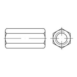 Sechskant-Verbindungsmuffe Stahl galv. verzinkt