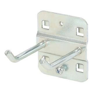 KS Tools Doppelter Werkzeughalter mit schrägem Hakenende, Ø 6 mm, 50mm