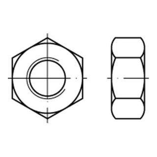 Sechskantmutter DIN 934 M 8 x 1,25 Edelstahl A2 blank