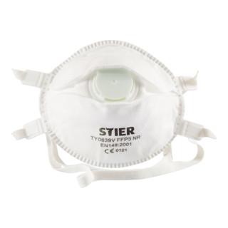STIER Atemschutzmaske FFP3 mit Ventil EN 149:2001 10Stk.