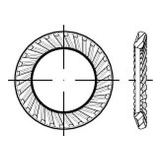 Schnorr Sperrzahnscheibe Form S