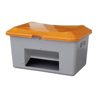 Cemo Streugutbehälter Plus3 mit Entnahme grau/orange