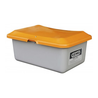 Cemo Streugutbehälter Plus3 ohne Entnahme grau/orange
